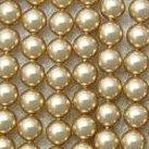 Shell Pearls, guld, 6mm