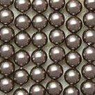 Shell Pearls, brun, 4mm