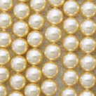 Shell Pearls, gul, 4mm
