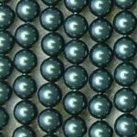 Shell Pearls, blå, 4mm