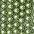 Shell Pearls, grön, 4mm