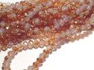Glaskristall, Koppar/ Rosa, 8x6mm