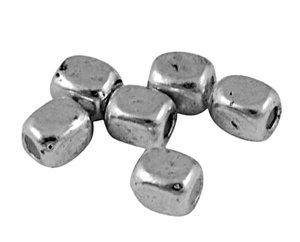 Metallpärlor 4,5x3,5mm Ø 2mm