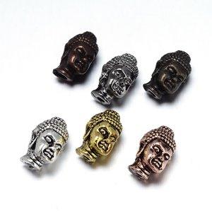 Metallpärla buddha, koppar 13mm