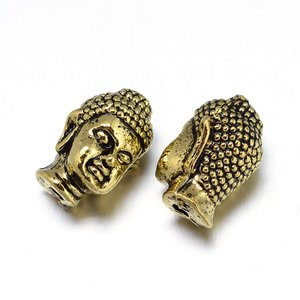Metallpärla buddha, brons 13mm