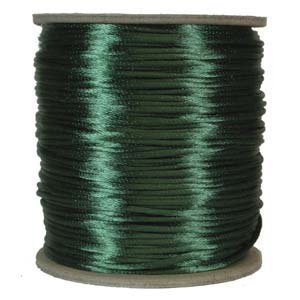 Satinband, Dark green 2mm