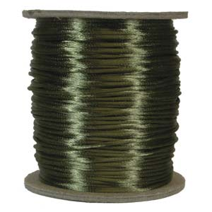 Satinband, Dark olive 2mm