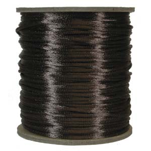 Satinband, Medium brown 2mm