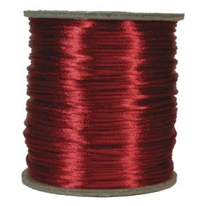 Satinband, Red 2mm