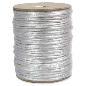 Satinband, Silver 2mm