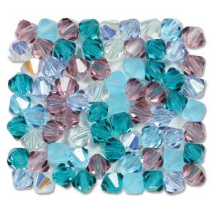 4 mm M.C. Bicone - Caribbean Blue