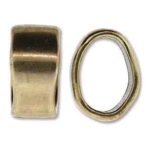 Metallpärla för regaliz mm hål: ca 10x6mm