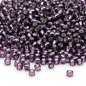 8/0 Seed Beads, 2-3mm, Purple S/L