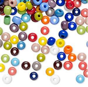 8/0 Seed Beads, 2-3mm, Opaque Mix