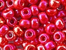6/0 Seed Beads, 3-4mm, Opaque Cerise