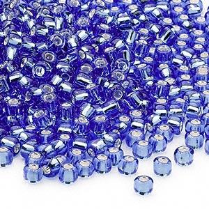 6/0 Seed Beads, 3-4mm, LightBlue S/L