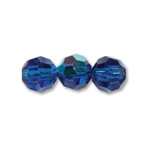 6 mm M.C. Round- Blue Capri