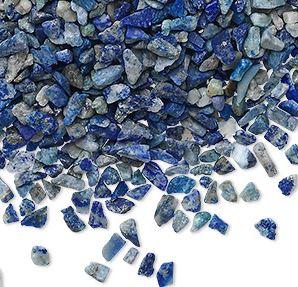 Lapis Lazuli- Chips, 2-6mm utan hål