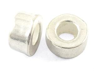 Metallpärlor, 6x3mm Ø 3mm