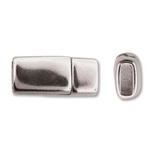 Kvalité! Magnetlås för läderband, 16x7mm hål: 5x2mm