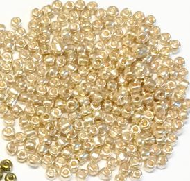6/0 Seed Beads, 3-4mm, Metallic rose