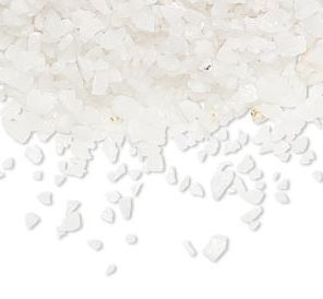 Vit agat- Chips, 2-4mm utan hål