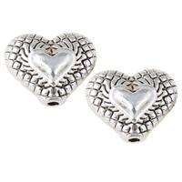 Metallpärlor hjärtan, ca12x10x6mm