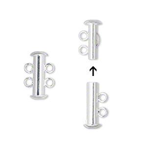 2-radigt lås, Silver