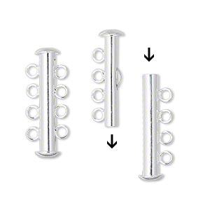 4-radigt lås, Silver