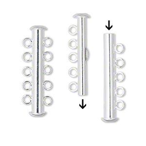 5-radigt lås, Silver
