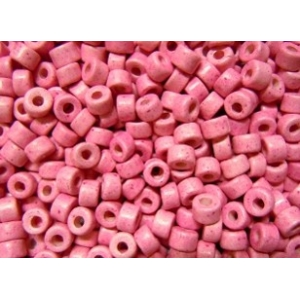 Keramikpärlor 6x4mm - Rosa