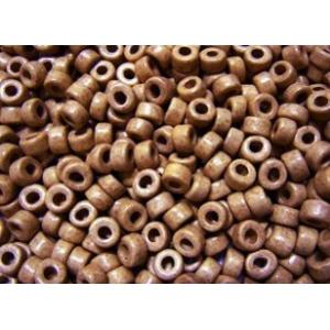 Keramikpärlor 6x4mm - Mellanbrun