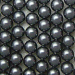 Shell Pearls, svart, 4mm