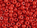 8/0 Seed Beads, 2-3mm, röd opak