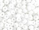 8/0 Seed Beads, 2-3mm, vit opak
