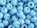 6/0 Seed Beads, 3-4mm, Opaque Blue